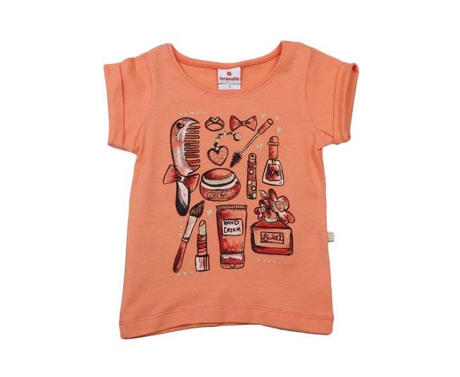 Camiseta Feminina Estampa Maquiagens Brandili