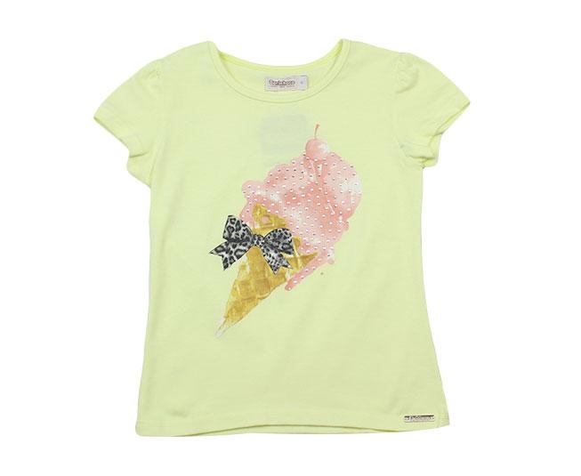 Camiseta Sorvete Amarela Carinhoso