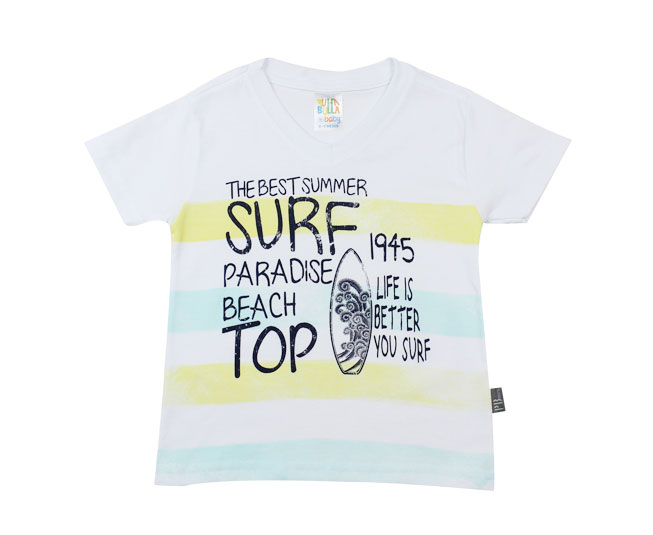 "Camiseta ""The Best Summer"" Surf Branca Pulla Bulla"