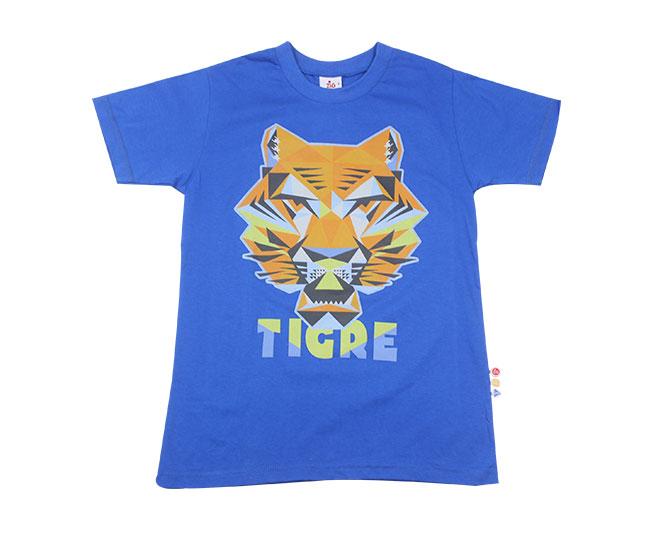 Camiseta Tigre Azul Brilha no escuro Zig Zig Zaa