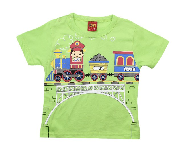 Camiseta Verde Trenzinho Kyly