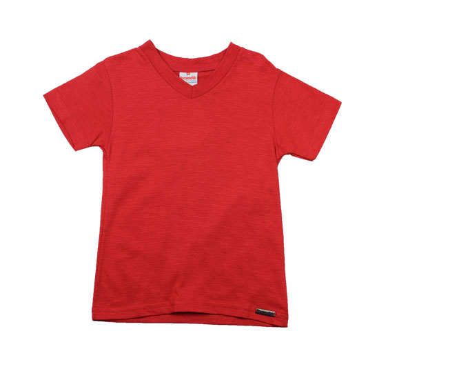 Camiseta Vermelha Gola v Brandili