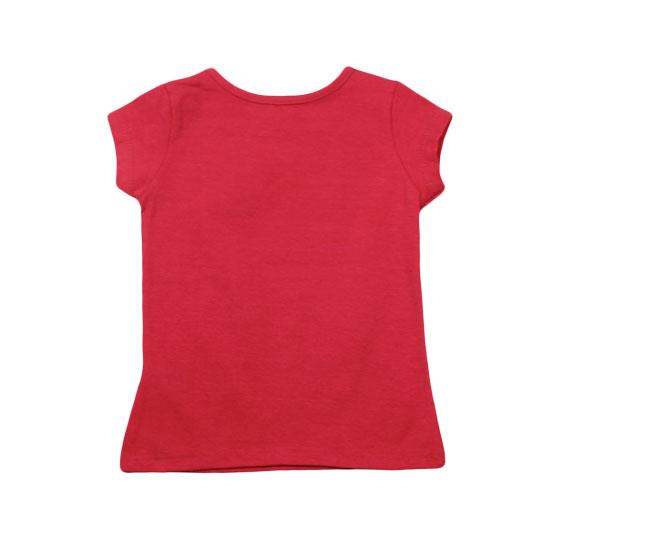 Camiseta Vermelha Lisa Boca Grande
