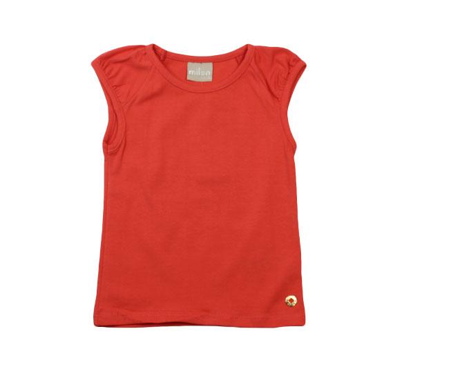 Camiseta Vermelha Lisa Milon