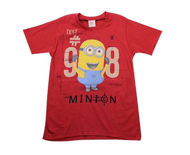 Camiseta Vermelha Minions Malwee