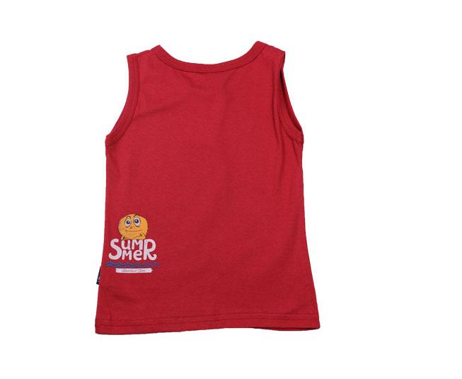 Camiseta Vermelha Regata de Monstrinhos Kyly