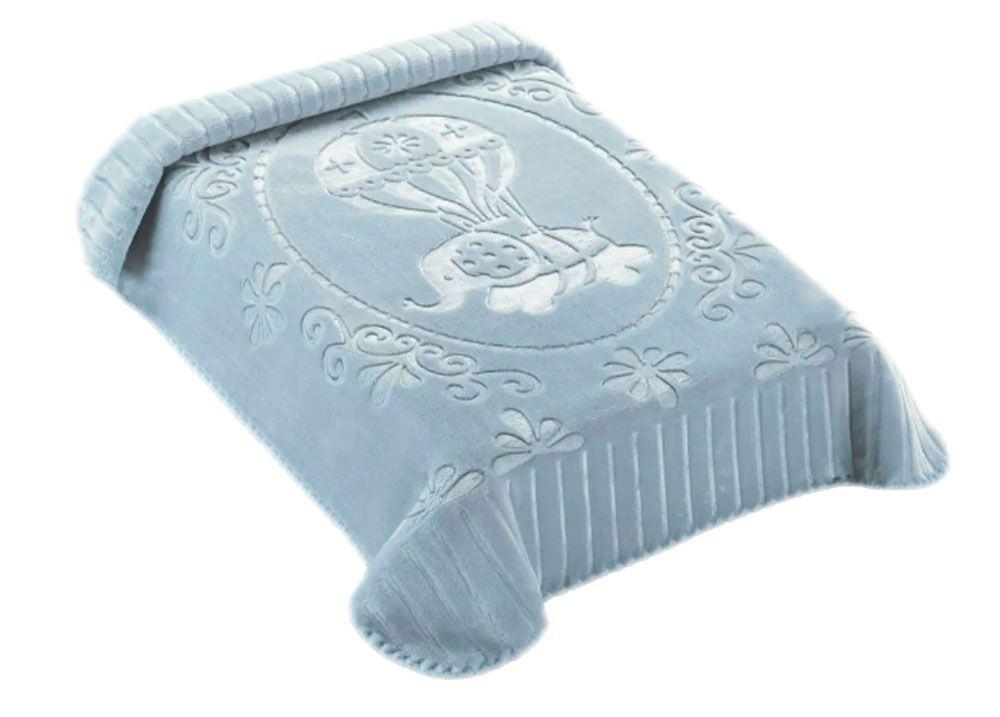 Cobertor Colibri Exclusive Azul Elefante