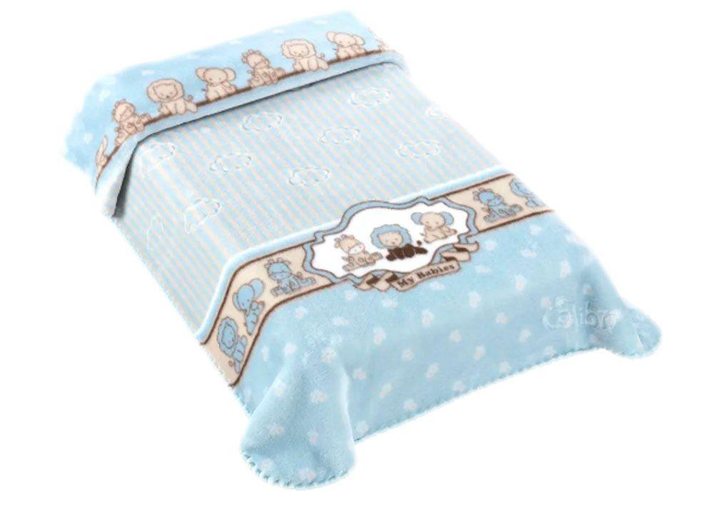 Cobertor Colibri Exclusive Azul My Babies