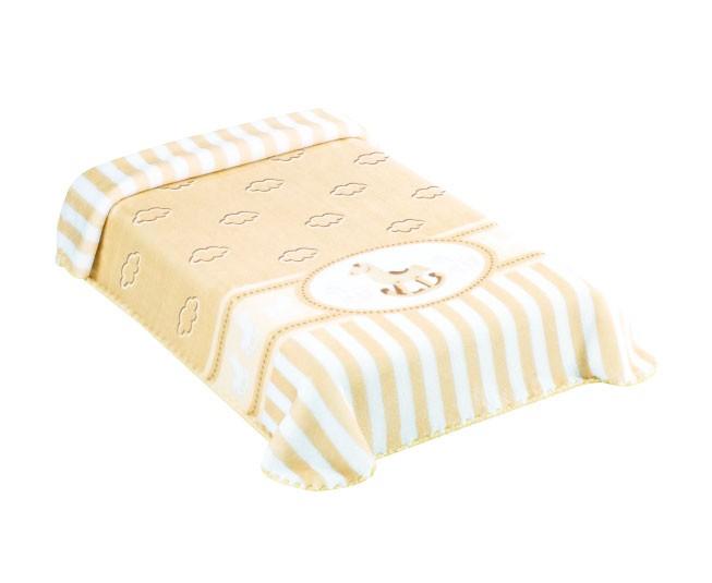 Cobertor Colibri Exclusive Cavalinho Bege