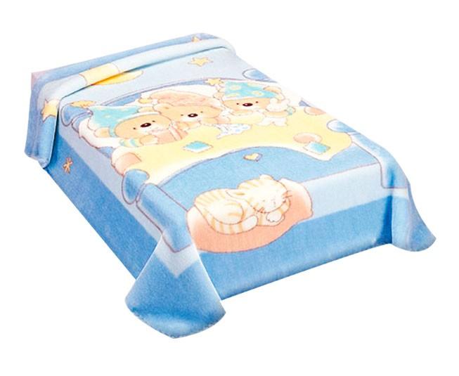 Cobertor Colibri Le Petit Soninho Azul