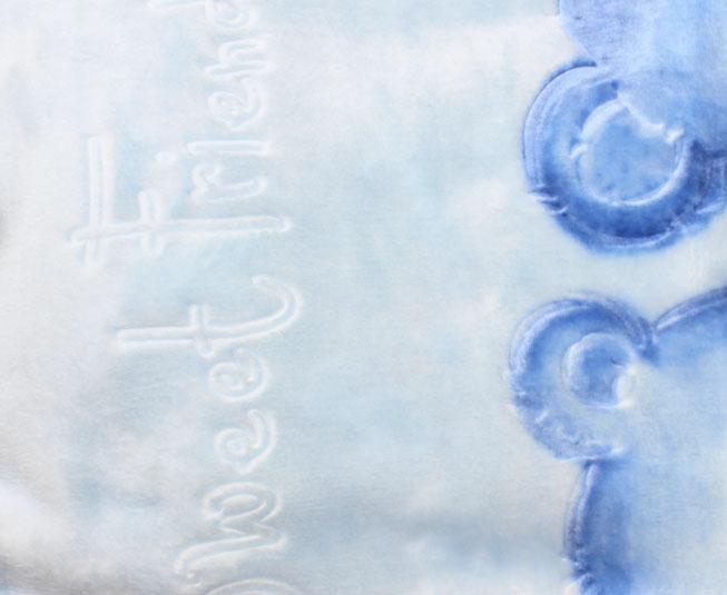 Cobertor Colibri Premium Relevo Ursinhos Azul