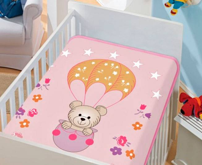 Cobertor de Bebe Jolitex Rosa Passeio de Balão