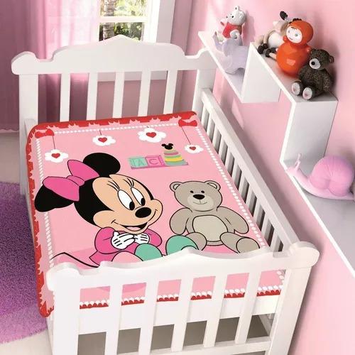 Cobertor de Bebe Minnie Rosa Surpresa