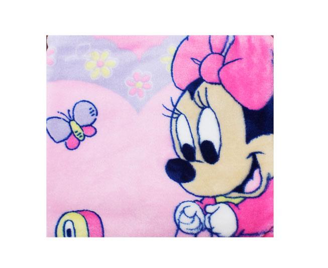 Cobertor de Bebe Minnie Rosa com Patinho