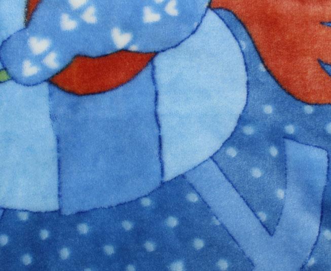 Cobertor de Bebe Jolitex Raschel Azul Cavalinho