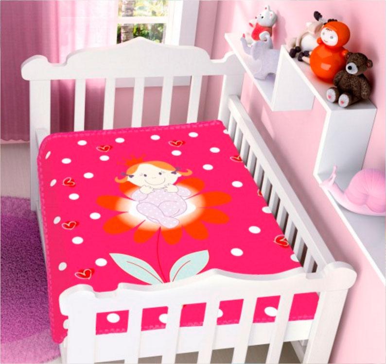 Cobertor de Bebe Jolitex Raschel Princesinha Pink