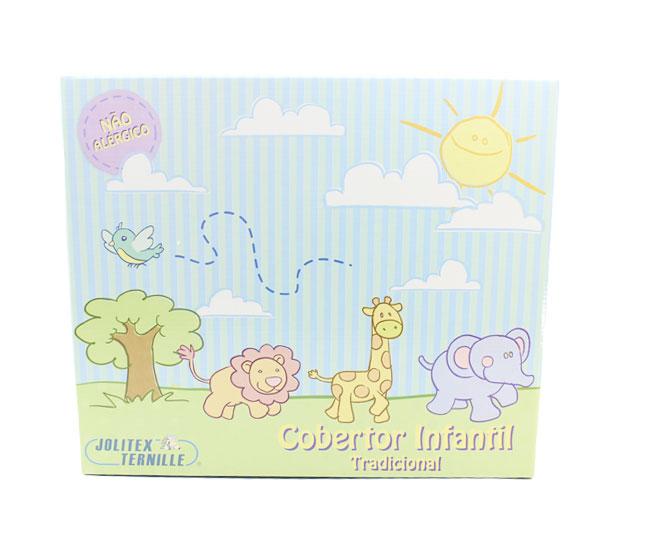 Cobertor de Bebe Jolitex Azul Enquanto o Sono Não Chega
