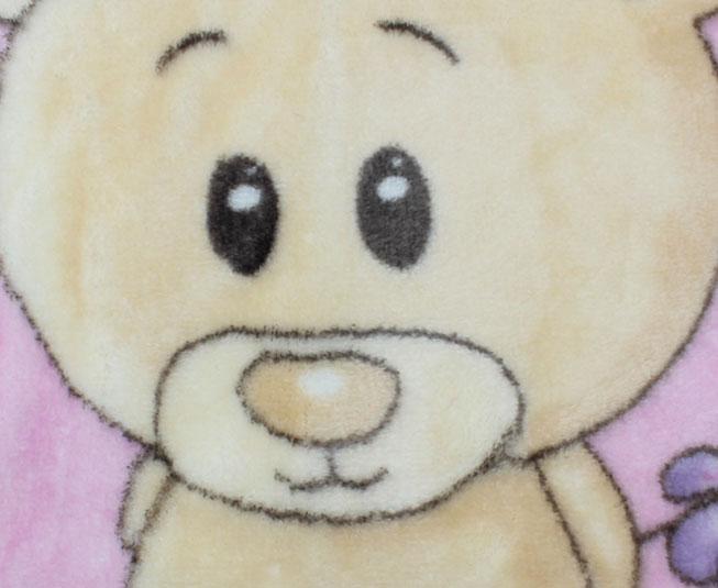 Cobertor de Bebe Jolitex Rosa Urso nas Flores