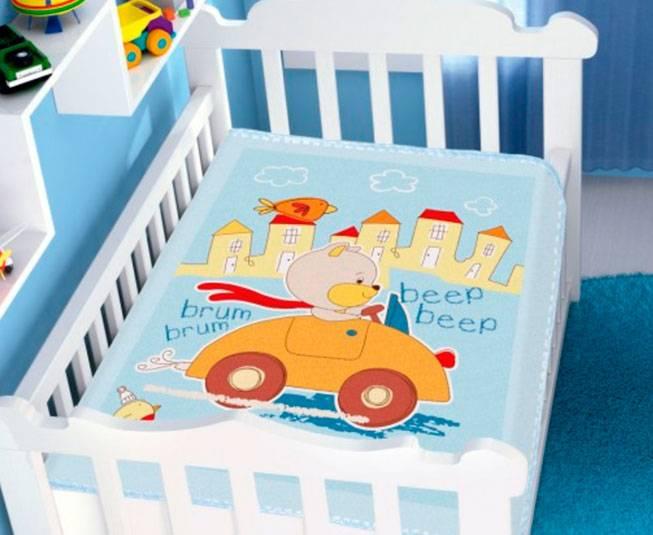 Cobertor de Bebe Jolitex Raschel Azul Passeio Divertido