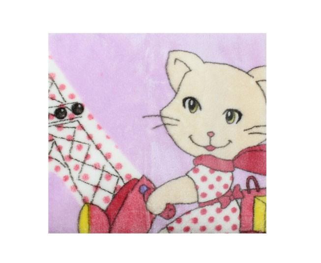 Cobertor de Bebe Jolitex Raschel Lilas Tres Chic