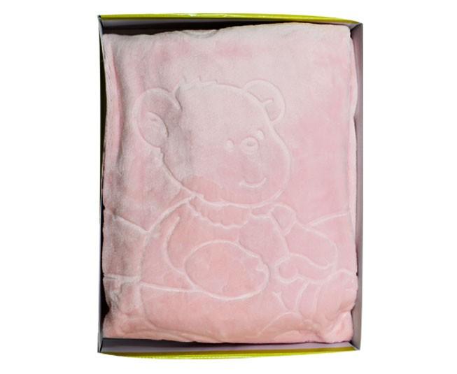 Cobertor de Bebe Jolitex Raschel Rosa Bicicleta