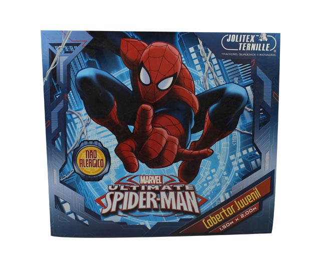 Cobertor juvenil jolitex Ternille Homem Aranha