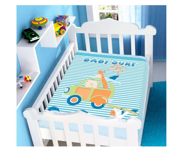 Cobertor de Bebe Jolitex Raschel  Azul Baby Surf