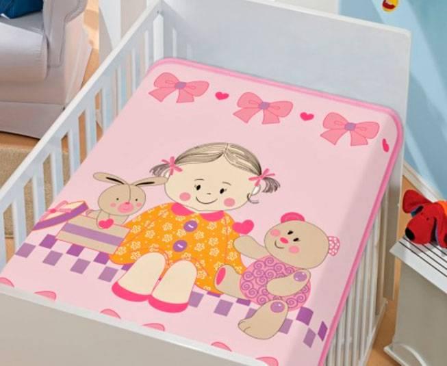 Cobertor de Bebe Jolitex Rosa Doce Amigas