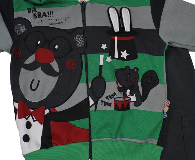 Conjunto Masculino Abracadabra Urso Mágico Zig Zig Zaa