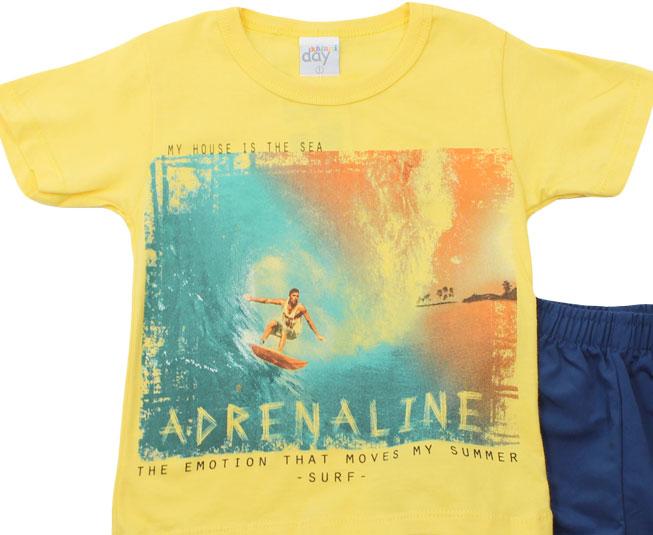 "Conjunto ""Adrenaline"" Amarelo Kaiani"