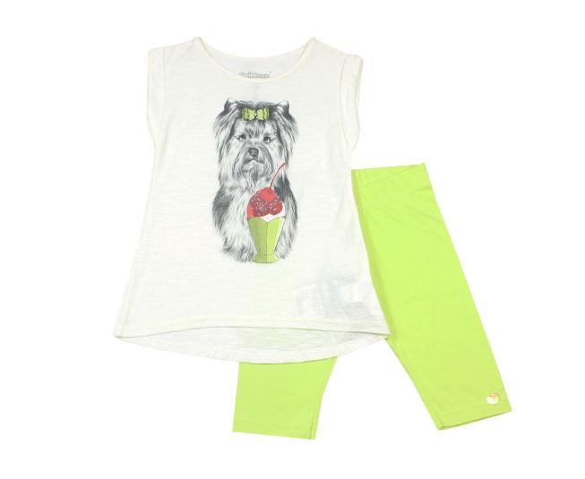Conjunto Cachorrinho Sorvete Camiseta+Legging Carinhoso
