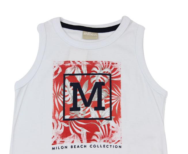 Conjunto Masculino Camisa Regata e Calça Florida Milon