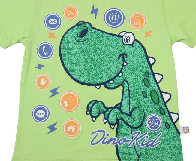 Conjunto Camiseta + Short  de Dinossauro Boca Grande