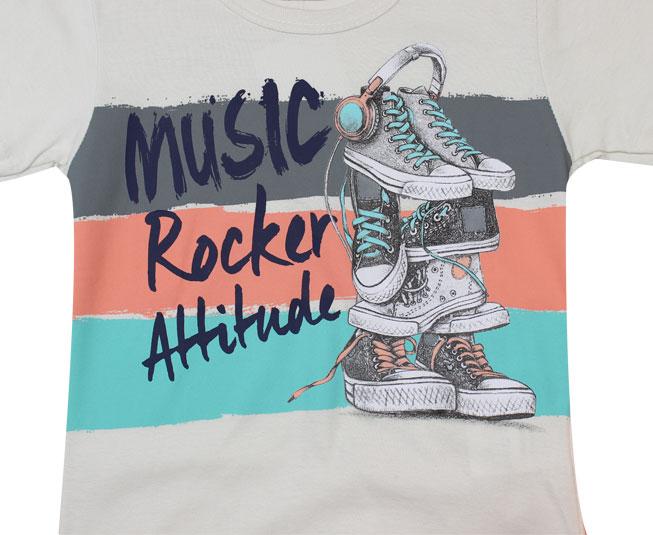 Conjunto Camiseta + Short Music Rocker Attitude Brandili