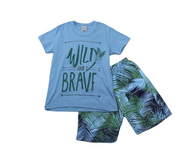 "Conjunto Camiseta ""Wild"" +  Short Kamylus"