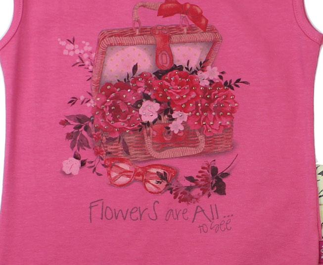 Conjunto Regata Feminino Cesta de Flores Pulla Bulla