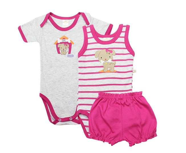 Conjunto de Body Feminino Manga Curta e Regata com Shortinho Best Club