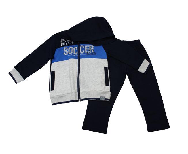 Conjunto de Inverno Cinza Masculino Soccer Pulla Bulla