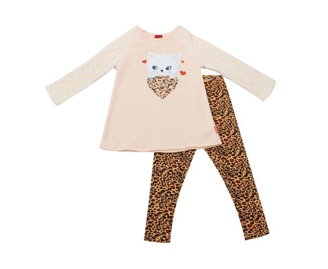 Conjunto de Inverno Feminino Kyly Blusa de Gatinha e Calça