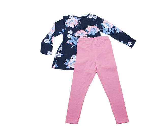 Conjunto de Inverno Feminino Kyly Camiseta Florida e Calça
