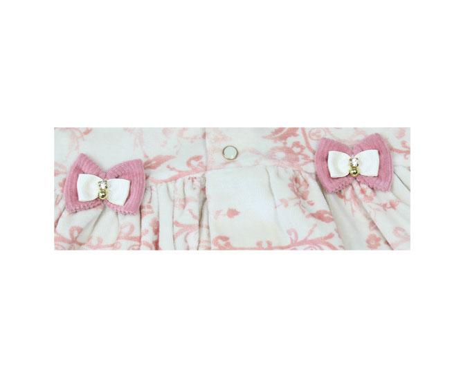 Conjunto de Inverno Plush Creme / Rosa Sonho Magico