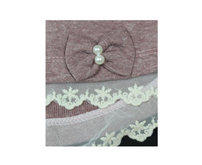 Conjunto de Inverno Rosa Blush / Preto Sonho Mágico
