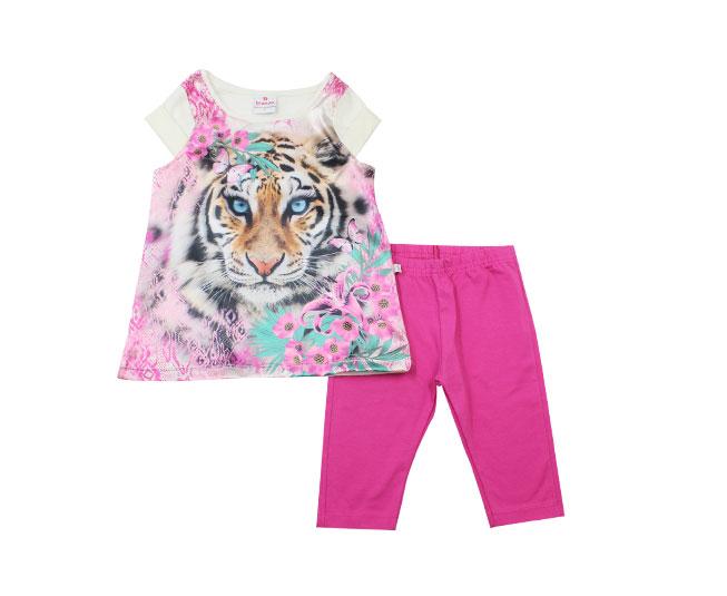 Conjunto Feminino Camiseta de Tigresa Brandili