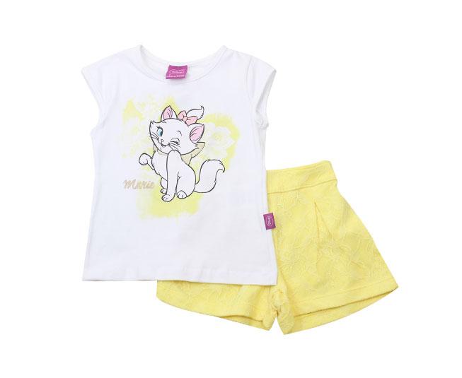 Conjunto Feminino Disney Camiseta Marie + Short Brandili