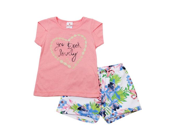 Conjunto Feminino Brandili Camiseta e Short