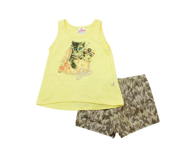 Conjunto Feminino Brandili Camiseta Regata e Short