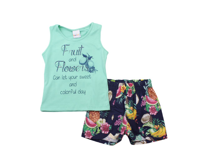 "Conjunto Feminino ""Fruit and Flowers"" Kaiani"