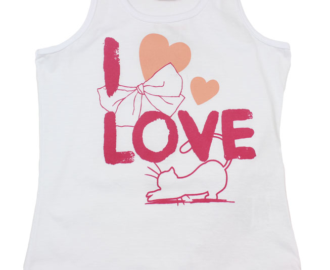 Conjunto Feminino Regata 'I love' Brandili