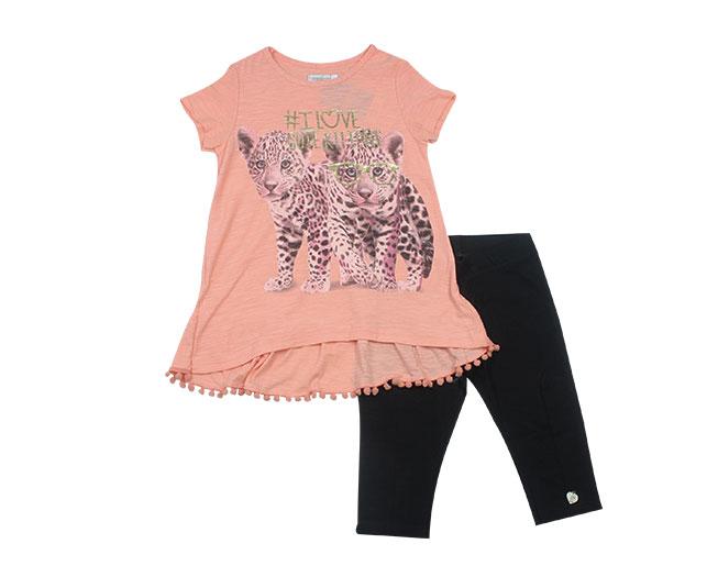 Conjunto I Love Cute Kittens Camiseta+Legging Carinhoso