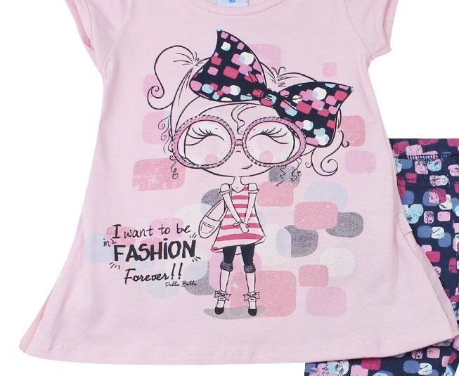 """Conjunto Feminino """"I want to be fashion"""" Pulla Bulla"""
